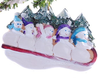 Family of five ornament - personalized Christmas ornament - personalized family ornament (f18)