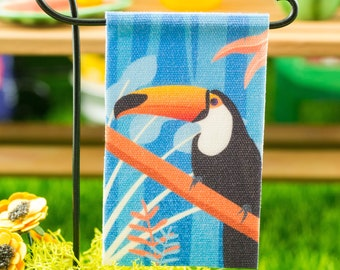 Miniature Toucan Garden Flag - 1:12 Dollhouse Miniature