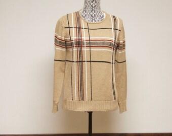 Vintage women's sweater Liz Claiborne Collection Beige sweater size small