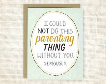 Father's Day Card, Mother's Day Card for Wife, Father's Day Card for Husband - This Parenting Thing
