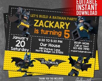Lego batman thanks Etsy