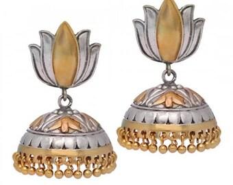 Jhumka/Oxidised earrings/Jhumki/indian jewelry/indian earrings/bollywood jewelry/Gypsy Earrings/silver errings