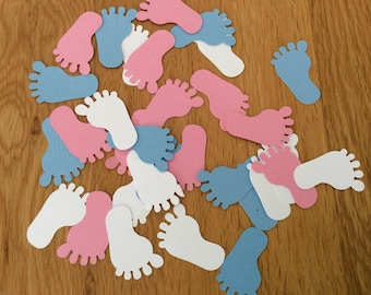 Baby shower confetti, Baby shower decorations, Baby feet, Gender neutral, Baby shower boy, Baby shower girl, Baby shower, Pink confetti