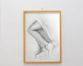ice skate pencil drawing