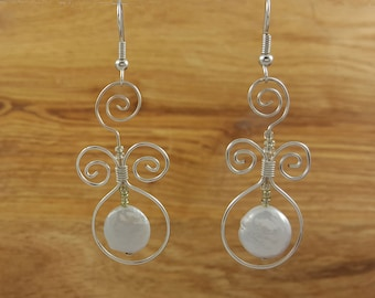 Coin Pearls with Swirls