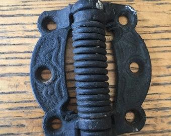 """Antique screen door hinge 3"""" x 3"""" cast iron"""