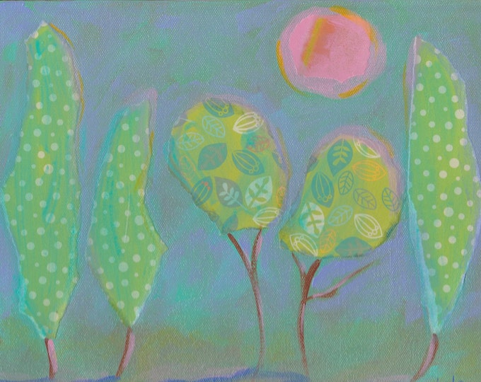 Under the pink moon notecard