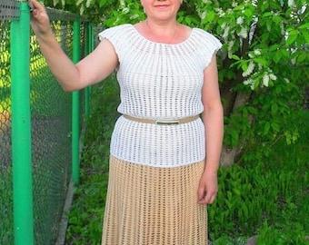 Crochet skirt and blouse set