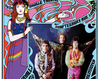 Psychedelic Cream at Saville Theatre, London concert poster