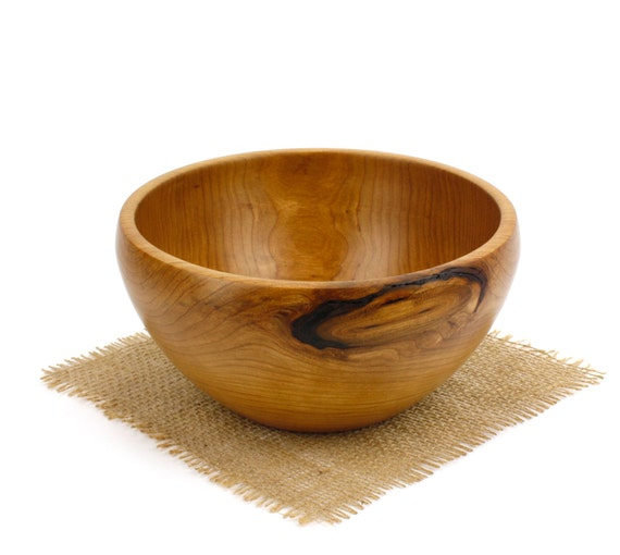 Wooden Cherry Bowl / Fruit Bowl/ Candy Dish