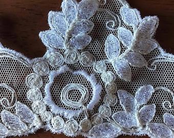 1 yard white vintage lace trim