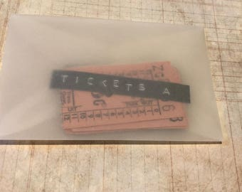 Vintage Bus Tickets from the 1960's | South African Bus Tickets 1960's | Vintage Ephemera | Vintage Bus Tickets | Fragile Ephemera