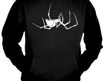 Black Widow Spider Pullover Hoodie Sweatshirt Gothic Clothing - MHD-DYS075