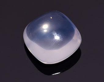 25.45 Ct Natural Blue Milky Opal Quartz Cushion Cabochon Loose Gemstone 18X18X11 HB-648