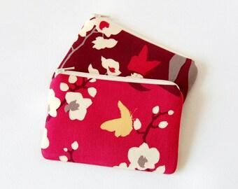 Small Zipper Pouch, Coin Purse, Change Pouch, Zip Wallet, Orchid Joel Dewberry Ginseng