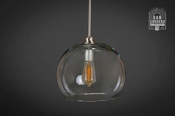 Pendant Light Fixture Edison Bulb Brushed Nickel Pendant - Kitchen light fixtures edison bulb
