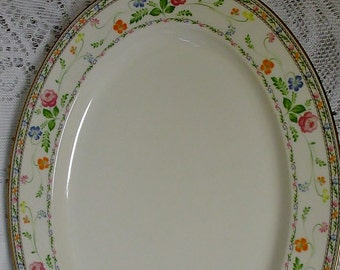 Noritake Finale 13 inch Oval Serving Platter by Noritake, Noritake Finale Pattern, Noritake Replacement China, Exc Cond, Shabby Platter