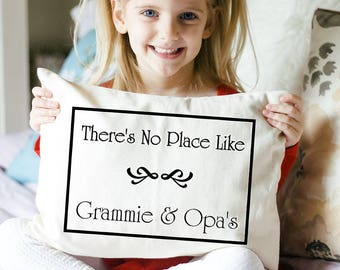 "Mother's Day gift, Personalized pillow, grandparents day, Hard to buy for, grandmother, grandparents "" There's no place like""  ampersand3"