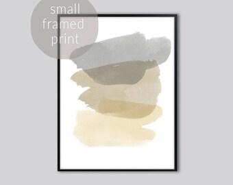 Large wall art, wall art prints, grey abstract watercolor, wall art abstract, large abstract print, abstract print, art, Framed prints,small