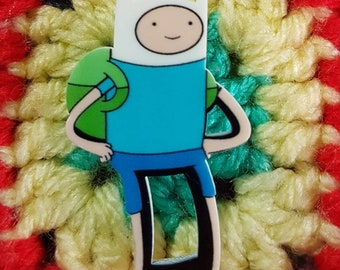 Handmade Adventure Time Finn brooch/pin badge - Finn the human