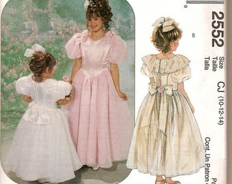 Flower Girl Dress Sewing Pattern McCall's 2552 Flower Girl Dress  Complete  UNCUT