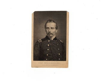 Antique civil war cdv photo of general Beauregard