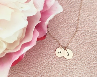Rose Gold Necklace, Initial Jewelry, Initial Necklace, Personalized Necklace, Personalized Gift, Best selling item, Best Friend Gift