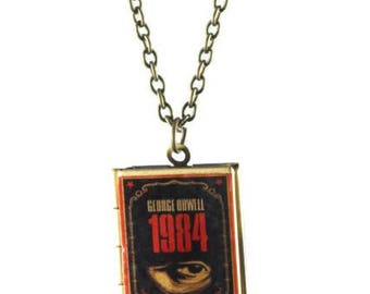 1984 George Orwell Book Locket Necklace
