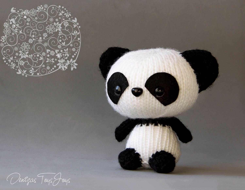 Panda. PDF knitting pattern. Cute kids gift pattern. Kawaii
