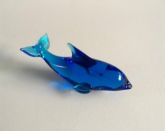 Vintage Glass Dolphin.