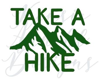 Take a Hike Monogram Addition for Dog Bandana - Matte, Glitter & HOLO Options
