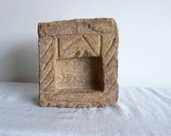 Stone Niche Architectural Salvage Lantern Artifact Listing is for One Lantern