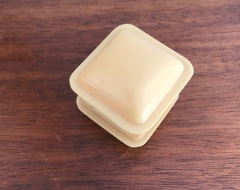 French Ivory Celluloid Ring Box Vintage Jewelry Display Vintage Plastic Presentation Box