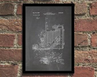 Vintage Camera Patent Print Steampunk Art Poster