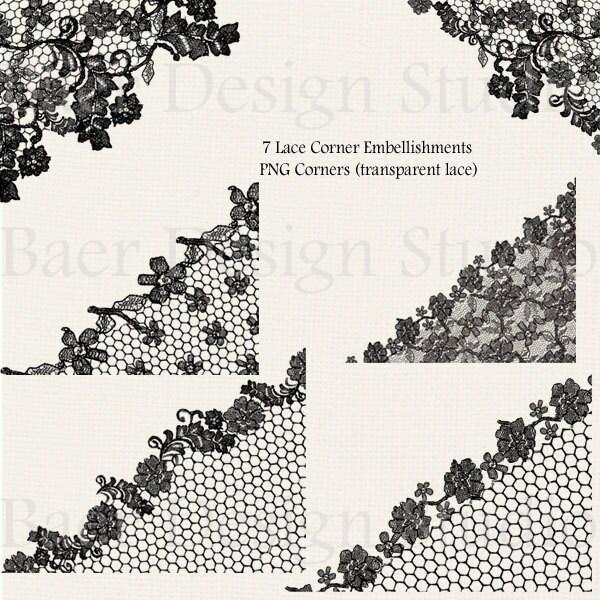 Lace Clipart Black Clip Art Borders