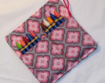 Toddler Crayon Roll, Party Favor, Party Supplies, Gift Basket, Party Favor, Wedding Favor, School Supplies, Daycare Supplies