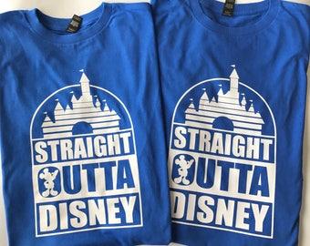 Custom Straight Outta Disney Family Vacation Shirts