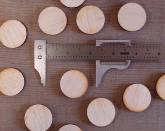25 Large Wood Circles 1.25 inch wood rounds
