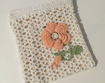 Coin Purse With Rose - Crochet