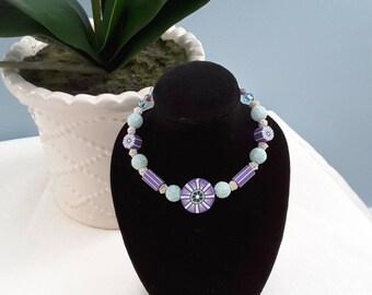 Lavender & Aqua Slip-On Bracelet