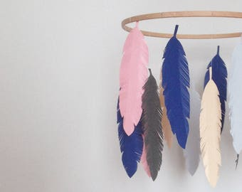 Feather Baby Hanging Mobile