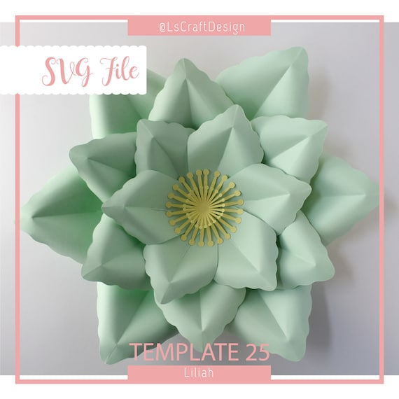 svg paper flower template giant paper flower templates paper