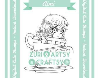 Digital Stamp, Aimi, Scrapbooking Digital Stamp, Instant Download, Zuri Artsy Craftsy, Digi Stamp, Cardmaking, coloring page