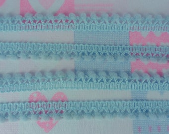 5 Yards Baby Blue Mini Pompom Small Ball Fringe Trim Woven Sewing Craft Embellishments Supplies
