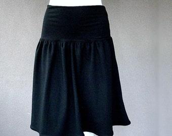 Short black skirt, organic cotton clothing, more colors, organic cotton skirt, more colors