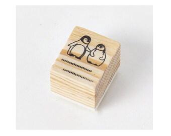 DIY Scrapbook Retro Rubber Stamp - Penguin