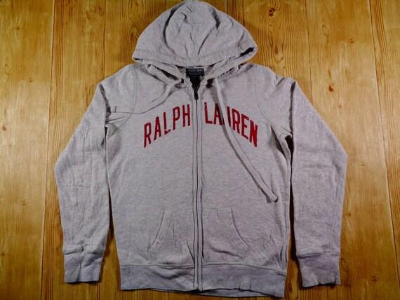 20% OFF Vintage POLO Ralph Lauren Hoodie Gray Original uhxuOn0Mt