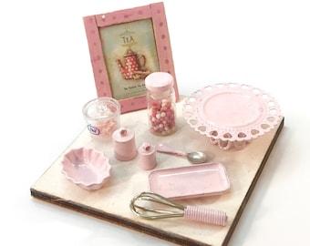Spring Pink - Cake Stand / Dessert Tray / Serving Set