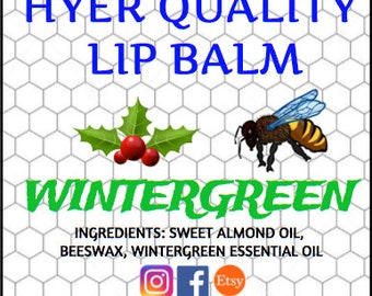 Wintergreen Beeswax Lip Balm