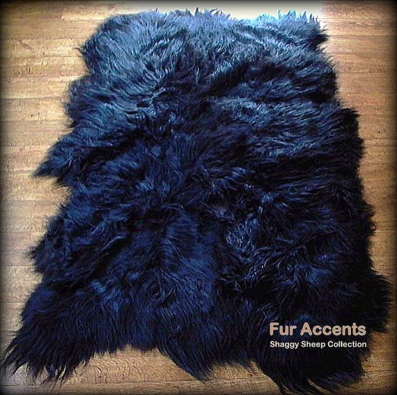 Shaggy Faux Fur Sheepskin Pelt Rug Shag Mongolian Long